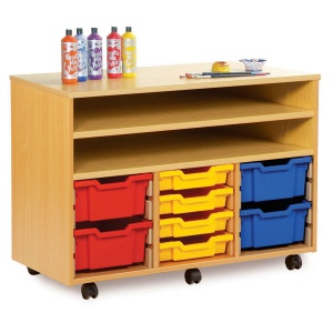 Shelf Storage With 12 Shallow or 6 Deep Trays
