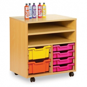 Shelf Storage With 8 Shallow or 4 Deep Trays