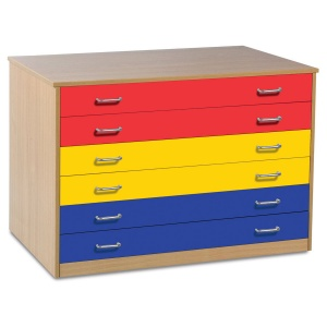 6 Coloured Drawer Plan Chest