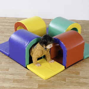 Toddler Tunnel Maze Softplay - Multicolour