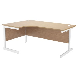 ONE Crescent Cantilever Workstation Left