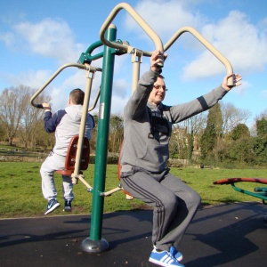 Outdoor Gym Combi Pull Down Challenger & Power Push
