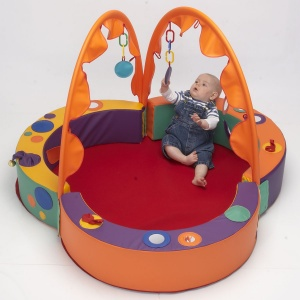 Children's Soft-Block Bubble Den - Multicolour