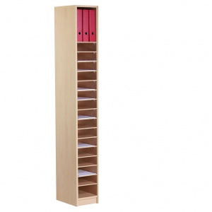 20 Compartment Wooden Pigeon Hole Store (2m)