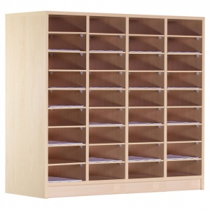 36 Compartment Wooden Pigeon Hole Store (1m)
