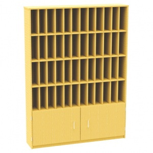48 Pigeon Hole Post Unit + Cupboard