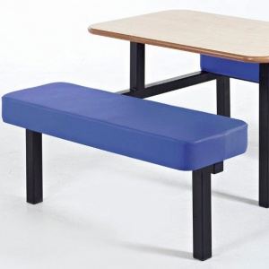 Padded Bench School Canteen Fast-Food Furniture