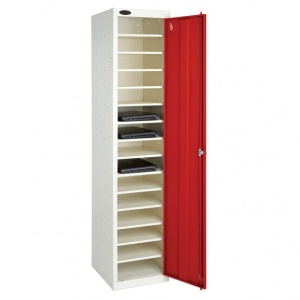 Single Door 10 Shelf Laptop Storage Locker