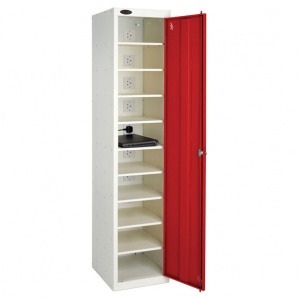 Single Door 10 Shelf Laptop Charge & Store Locker