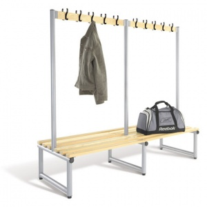 Probe Double Sided Cloakroom Hook Bench