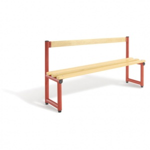 Probe Single Sided Cloakroom Bench + Backrest