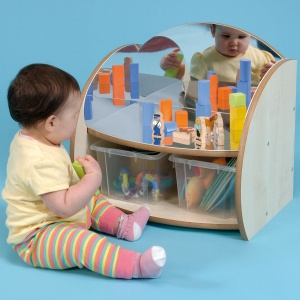 ''Mini'' Children's Mirror Shelf + 2 Trays
