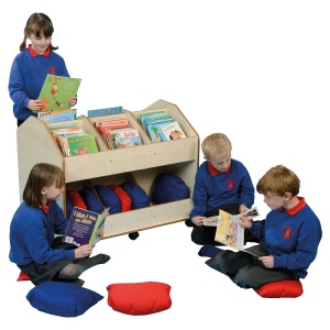 Double-Sided Mobile Classroom Organiser + Cushions