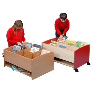 Floor Level Six Compartment Kinderbox + Shelf