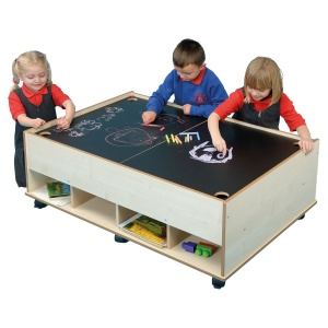 Children's Chalkboard & Drywipe Table