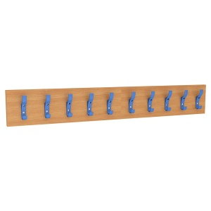10 Hook Coat Rail - Coloured