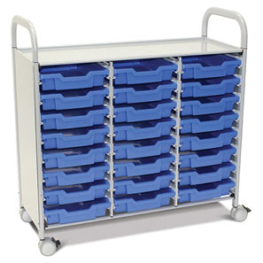 Callero Plus Treble Trolley + 24 Shallow Trays