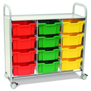 Callero Plus Treble Trolley + 12 Deep Trays