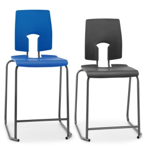 SE School Lab & Craft Stool + Backrest