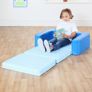 Snoozeland™ Sit & Rest - Cornflower Blue & Sky Blue