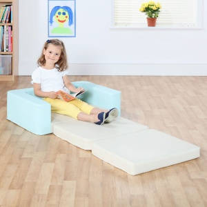 Snoozeland™ Sit & Rest - Aqua Blue & Wheat Cream