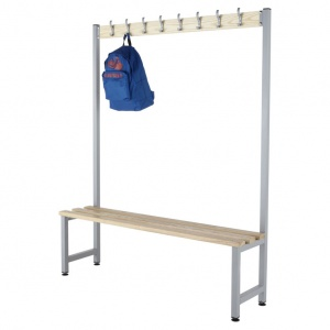 Budget KD Single Sided Cloakroom Hook Bench
