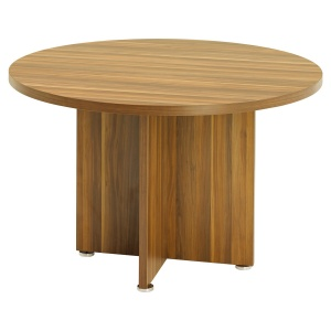 Regent Round Meeting Table - Dark Walnut