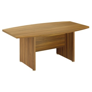 Regent Small Boardroom Table - Dark Walnut