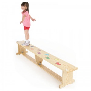 ActivBench Wooden Gym Bench + Foot Graphic