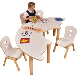 Alps Fan Shape Children's Stacking Table - Bundle Deal