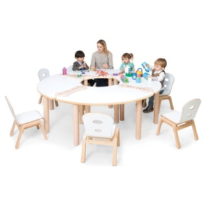 Alps Fan Shape Children's Stacking Table - Bundle Deal 1