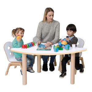 Alps Fan Shape Children's Stacking Table