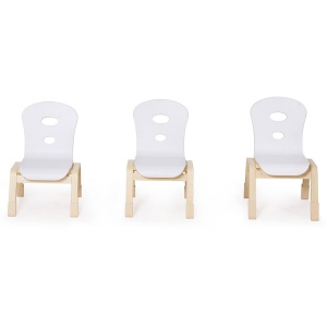 Alps Wooden Stacking Children's Chair (Pack of 4)