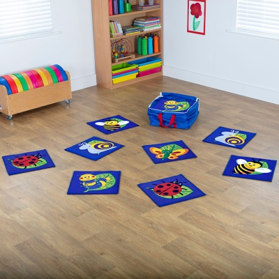 Back to Nature™ Mini Bug Placement Carpets (Pack of 14)