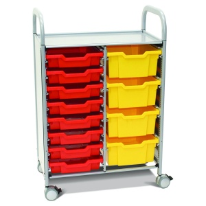 Callero Plus Double Trolley + 8 Shallow & 4 Deep Trays