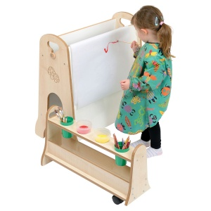 Children's Blackboard / Whiteboard Mini Easel +  Storage Trolley