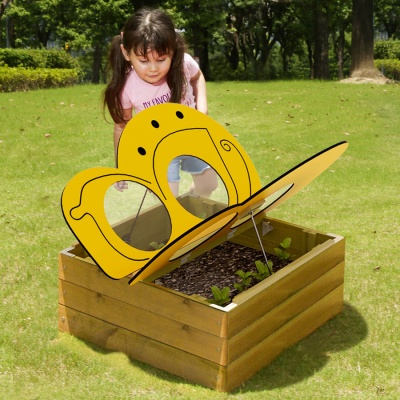 Children's Outdoor Butterfly Flower Bed