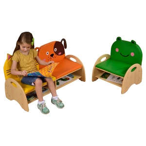Children's Wooden Seat & Storage Chair