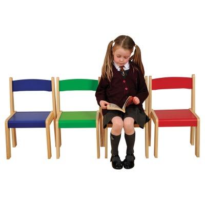 Children's Wooden Stacking Children's Chair (Pack of 4)