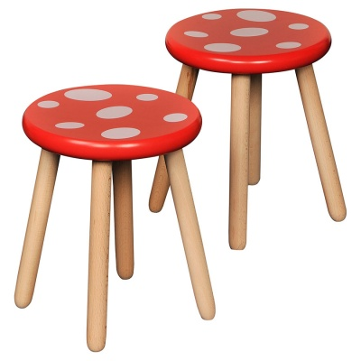 Children's Wooden Toad Stool (Pack of 2)
