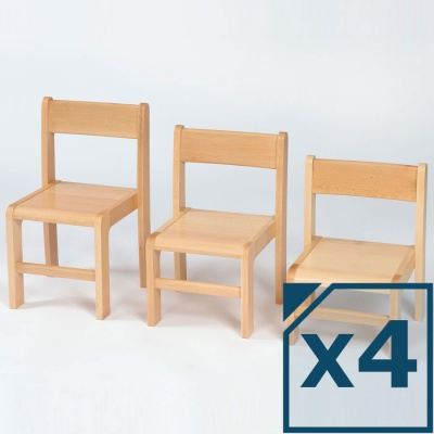 Nursery Wooden Classroom Chairs 260H (Pack of 4)