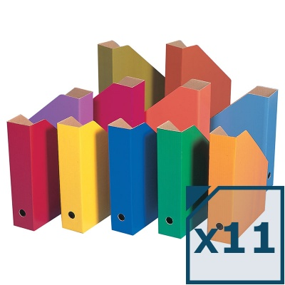 Colour Filing Boxes – Curriculum Colours (Pack of 11)