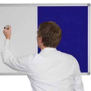 Combination Non-Magnetic Whiteboard with Premier Felt