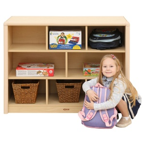 Elegant 8 Compartment Classroom Cabinet