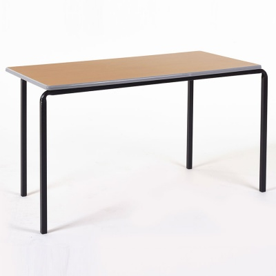 Essentials Slide-Stack Rectangular Classroom Table + Cast PU Edge