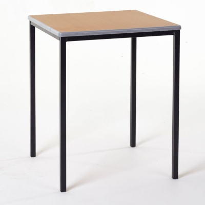 Essentials Square Classroom Table + Cast PU Edge
