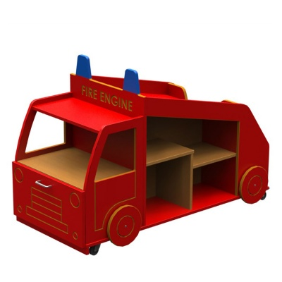 Micro Fire Engine Library Book Store & Display