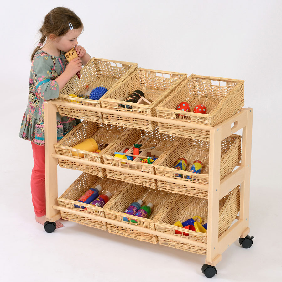 9 Shallow Basket Classroom Tidy