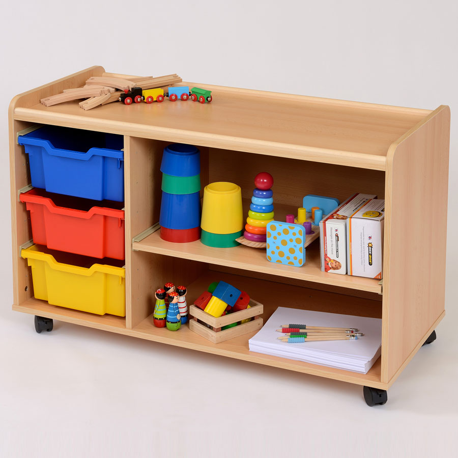 3 Deep Tray/Shelf Storage Unit