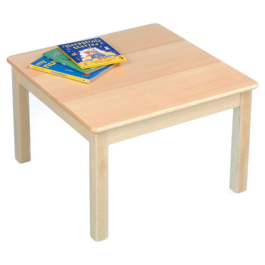 Children's Square Veener Wooden Table (690 x 690mm)